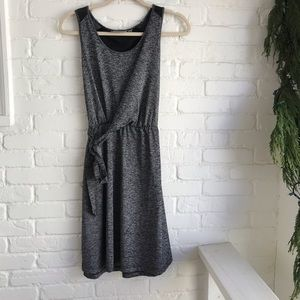 Athleta Wrap Dress Gray Black Sleeveless Dress XS